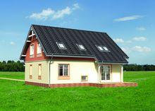 Двухэтажный дом с праздничным экстерьером