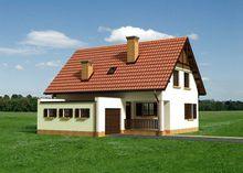 Двухэтажный жилой дом с гаражом и просторной кухней-столовой