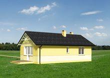 Схема дачного дома в радостных оттенках