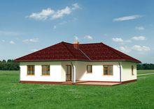 Симпатичный одноэтажный дом для городской и дачной застройки