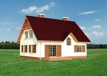 Проект мансардного дома в классическом стиле 9 на 12 м