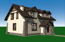 Красивый загородный дом для небольшой семьи
