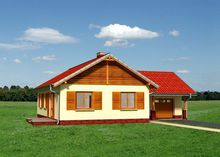 Компактный загородный коттедж в деревенском стиле