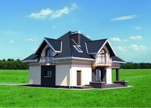 Проект практичного двухэтажного дома с пятью спальнями