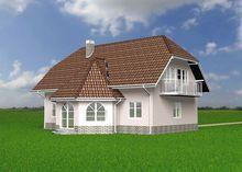 Архитектурный проект дома с элегантными эркерами