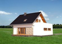 Архитектурный проект красивого небольшого дома с четырьмя спальнями