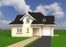 Архитектурный проект загородного дома с красивой небольшой террасой
