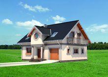 Архитектурный проект стильного загородного дома с большими комнатами
