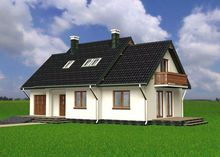 Красивый загородный особняк с лаконичным дизайном