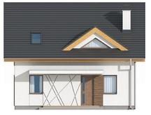 Проект небольшого компактного дома с мансардными окнами