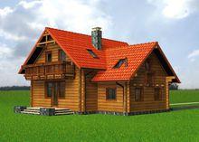 Проект красивого загородного дома с шестью спальнями и площадью 150 m²