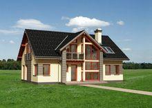 Проект невероятной усадьбы с пятью комнатами и большой кухней