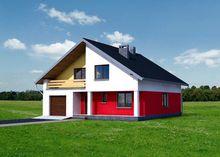 Стильный двухэтажный особняк с большими и светлыми комнатами