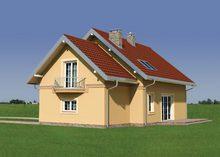 Уютный загородный дом с эркером, балконом и лоджией