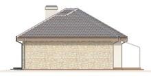 Одноэтажный коттедж с многоскатной крышей