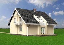 Проект мансардного дома 170 m² в традиционном стиле
