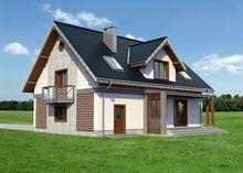Проект в классическом стиле дома с мансардой