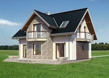 Традиционный проект коттеджа до 150 m² с мансардой