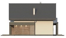 Проект небольшого мансардного дома для узкого участка