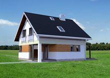 Современный жилой дом с просторной террасой