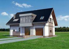 Интересный проект загородного дома с четырьмя спальнями