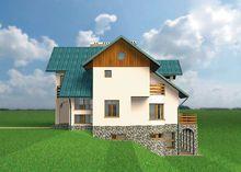 Трехэтажный жилой дом с уникальной планировкой