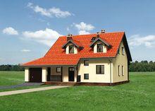 Проект яркого дома в два этажа площадью 165 кв.м