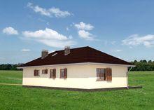 Планировка одноэтажного дома на 130 кв. м с великолепной зоной отдыха