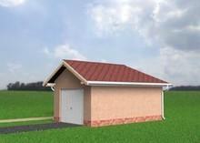 Проект отдельного гаража с кладовой