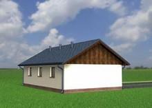 Архитектурный проект отдельного гаража для 2-х машин с кладовкой