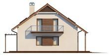 Проект 1,5-этажного дома с дополнительной спальней на первом этаже