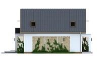Мансардный проект с коттеджа с двухскатной крышей