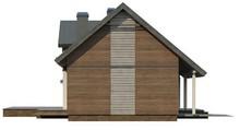 Проект стильного 1-этажного дома с мансардой и большим фронтальным окном