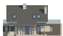 Проект одноэтажного коттеджа с уютной террасой над гаражом