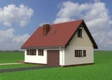 Проект гаража с жилым помещением в мансарде