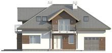 Проект классического традиционного дома с гаражом и оригинальной мансардой
