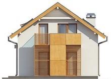 Проект особняка с мансардой и гаражом для узкого участка