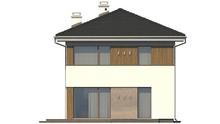 Проект загородного двухэтажного коттеджа с тремя спальнями