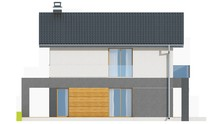 Проект двухэтажного компактного коттеджа для узкого участка