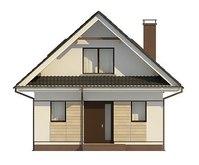 Проект компактного дома с мансардой 80 m²