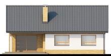 Проект загородного дома с тремя спальнями и двускатной крышей