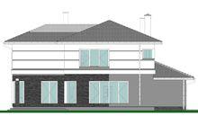 Интересный проект двухэтажного особняка площадью 320 m²