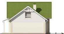 Проект одноэтажного коттеджа с гаражом и зеленой кровлей
