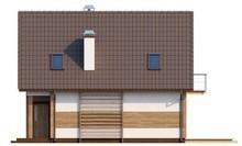 Проект коттеджа с балконом для узкого участка