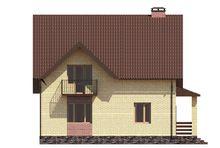 Проект компактного дома с рациональным распределением площадей