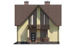 Двухэтажный коттедж с пятью спальнями и красивым балконом