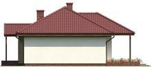 Проект симметричного одноэтажного коттеджа с чердаком свободной планировки