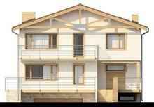 Проект двухэтажного коттеджа с подвалом и спортзалом