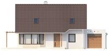 Проект коттеджа с гостиной и боковой террасой