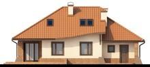 Проект коттеджа с гаражом, террасой и оригинальной крышей